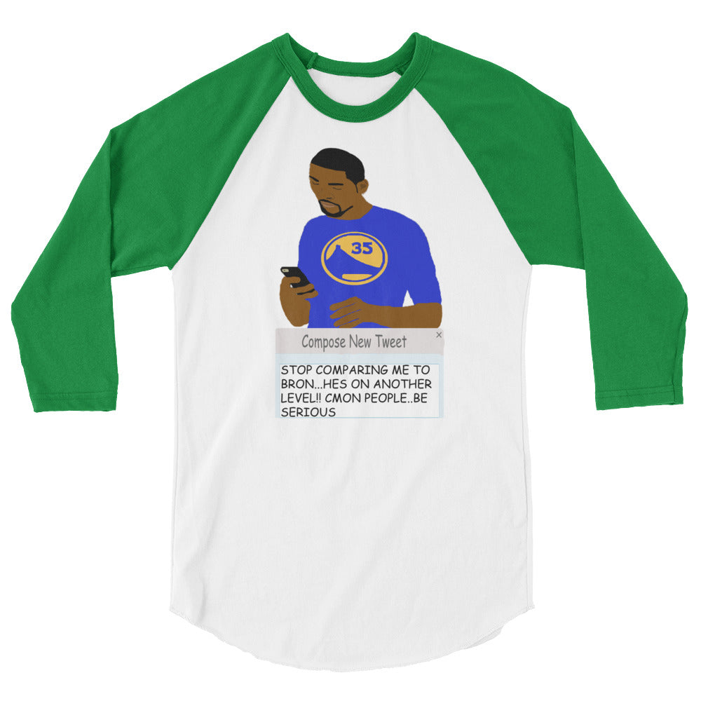 KD Tweeting 3/4 sleeve raglan shirt