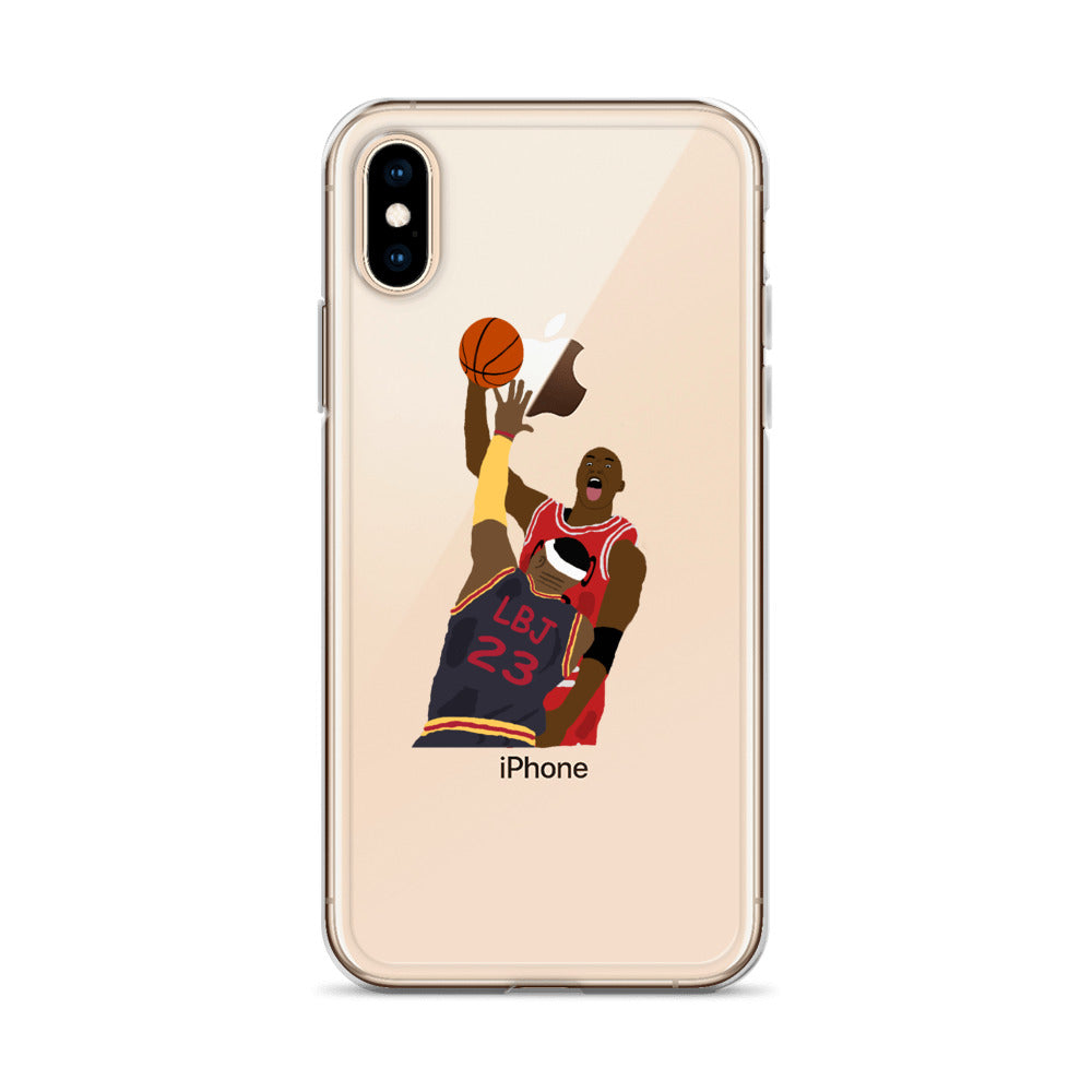 MJ Dunks on LBJ iPhone Case