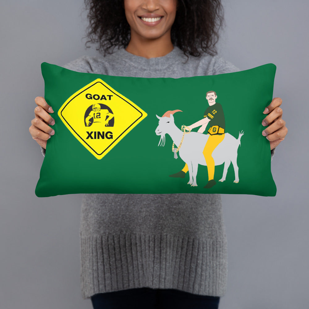 Rodgers GOAT Xing Pillow