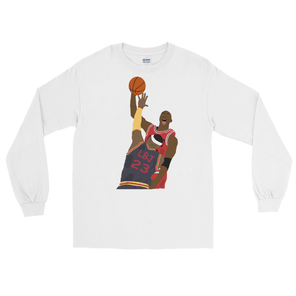 MJ Dunks On LBJ Long Sleeve T-Shirt
