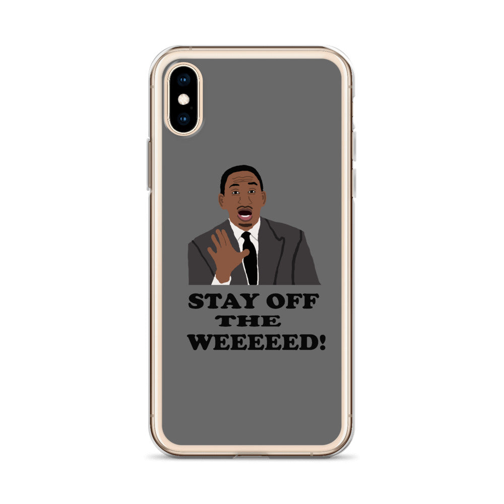 Stay Off The Weed iPhone Case