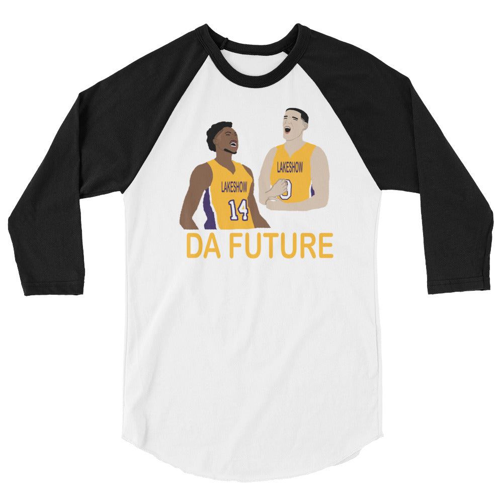 Da Future 3/4 sleeve raglan shirt
