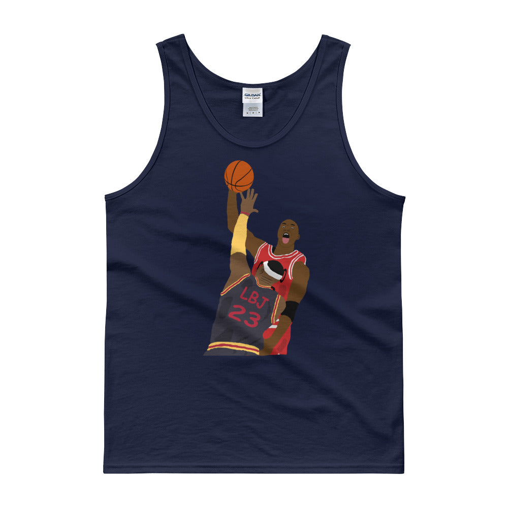 MJ Dunks On LBJ Tank top