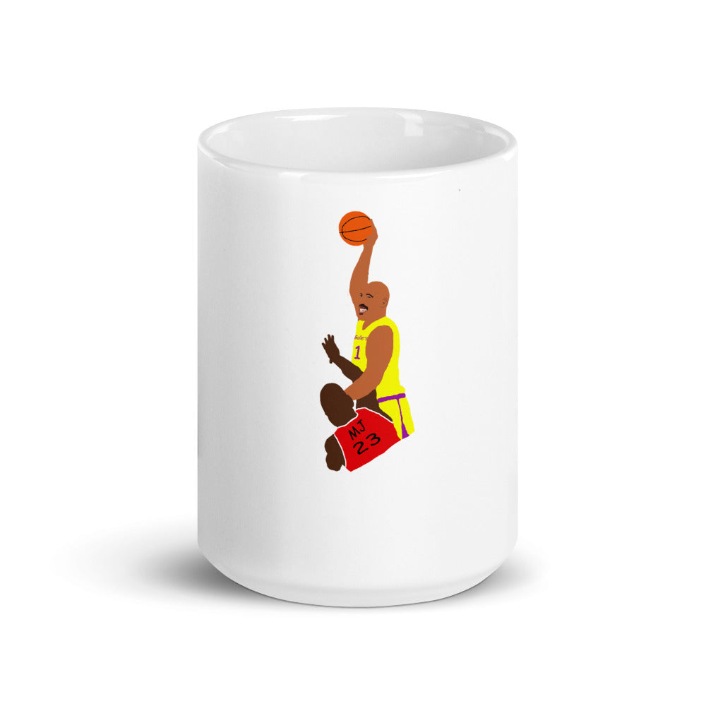 LaVar Dunks on MJ Mug