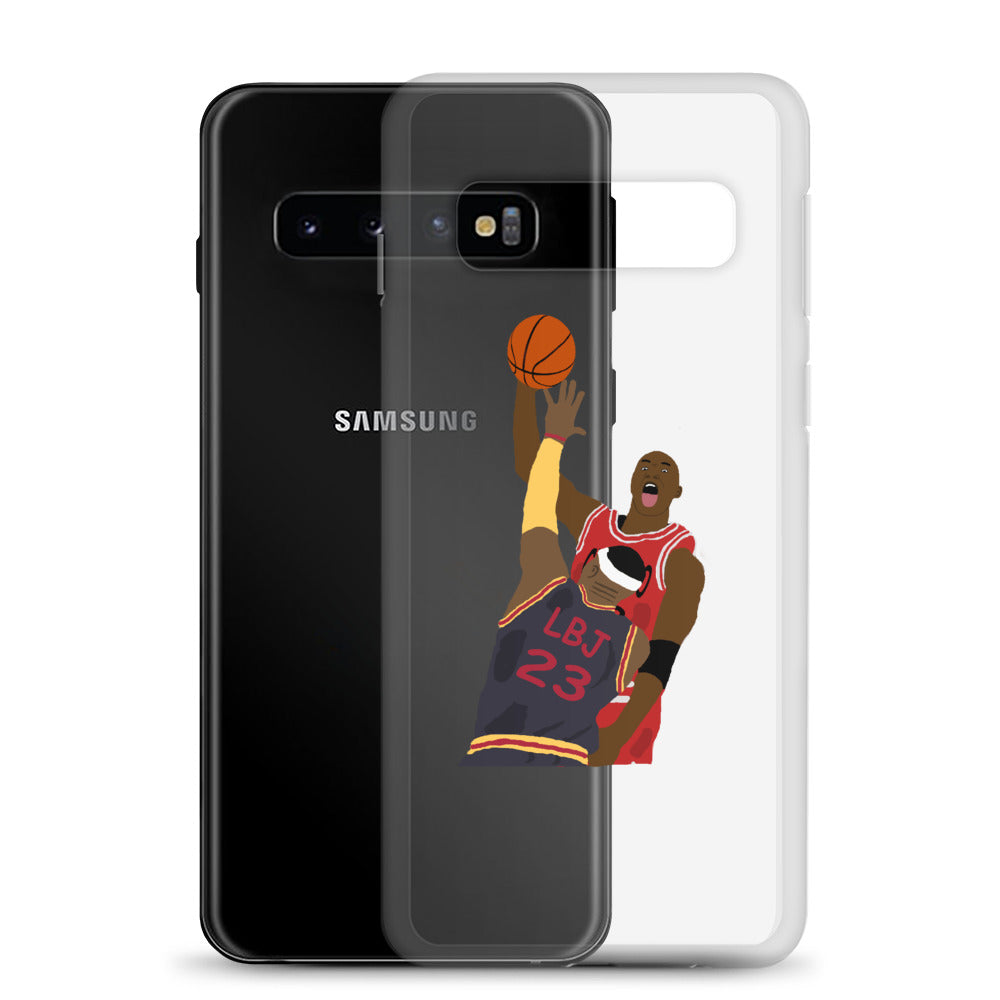 MJ Dunks on LBJ Samsung Case