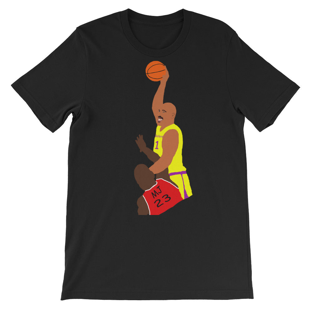 Lavar Vs MJ short sleeve t-shirt