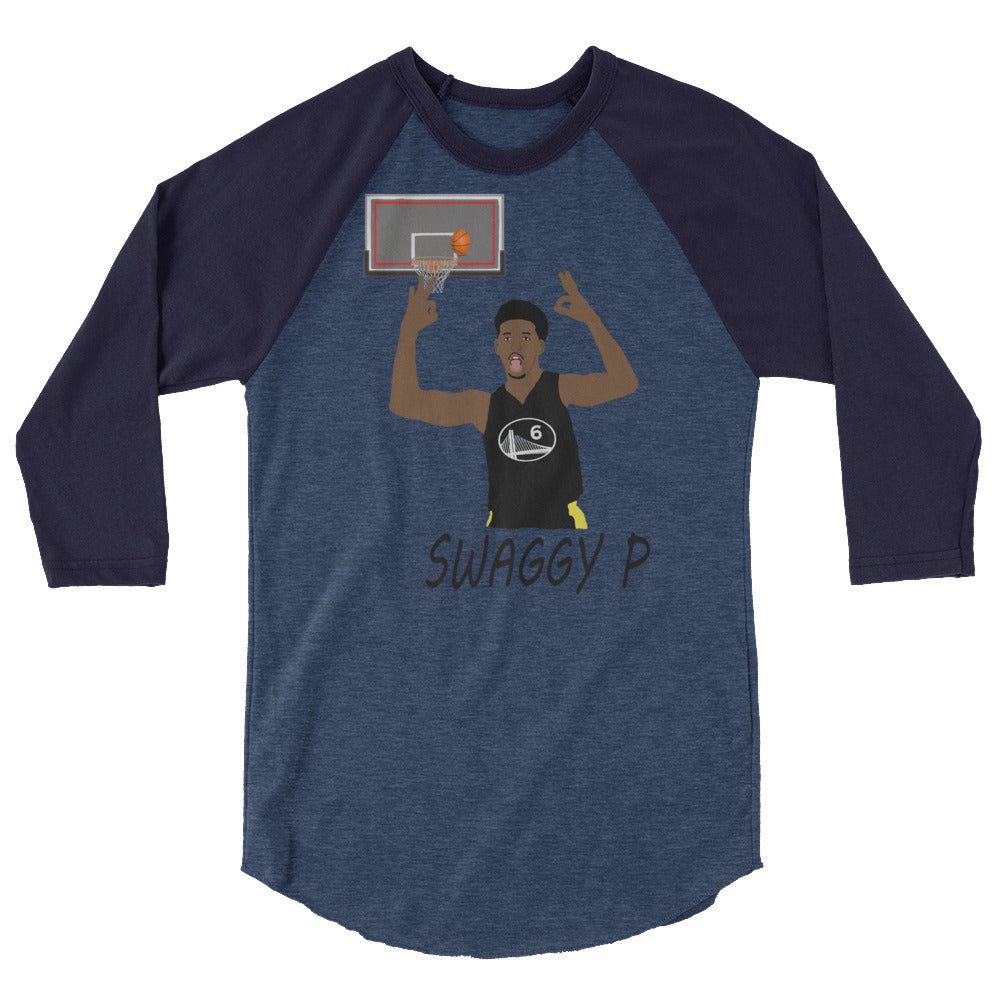 Swaggy P 3/4 sleeve raglan shirt