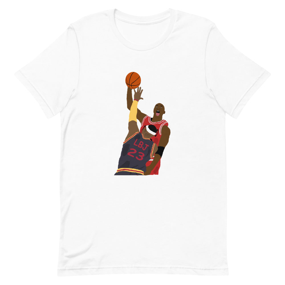 MJ Dunks on LBJ Short-Sleeve Unisex T-Shirt