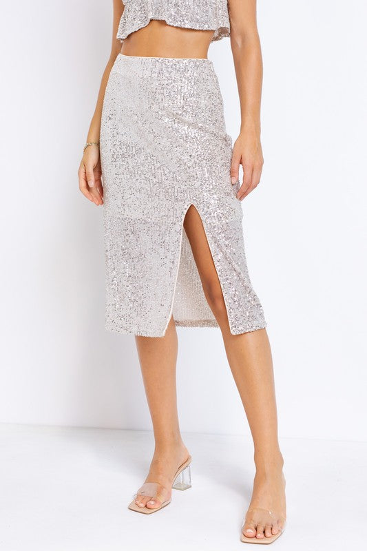 Shine On Sequin Skirt