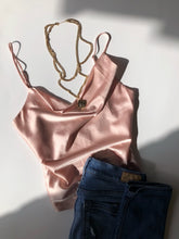 Nova Satin Top - Champagne