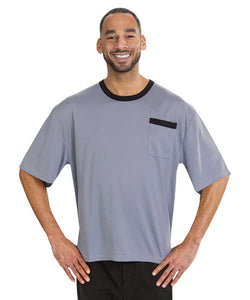 MED - XL Adaptive Tshirt Top For Men - Disabled Adults - Back Snap Shirts