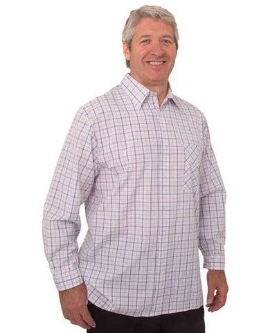 SMA - 3XL Men's Adaptive Sport Shirt - Adaptive Clothing For Men - Long Sleeve Snap Back Shirts