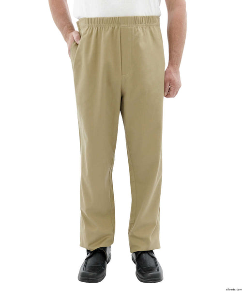 SMA - 3XL Mens Cotton Easy Access Open Side Pants - Arthritis Pants