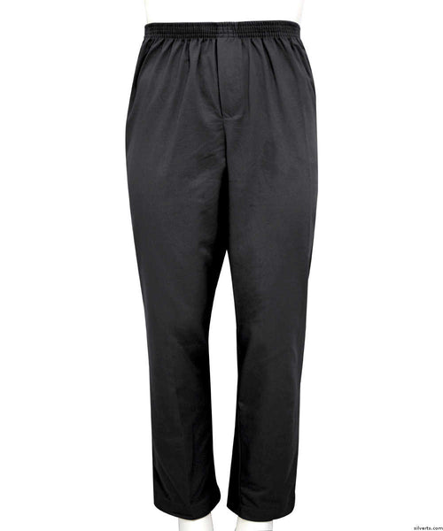 SMA - 4XL Full Elastic Waist Pants For Men - Pull On Cotton Rugger Elastic Waist Pants - High Waisted Pants Wide Leg Pants