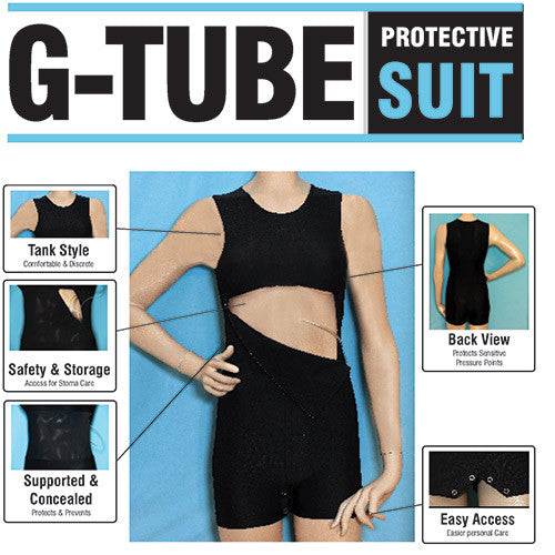 G-tube adaptive clothing - Great for stoma site maintenance, flushes, and G-tube feeding systems