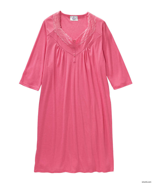 SMA - 3XL Hospital Gowns - Womens Pretty Hospital Patient Gowns - Open Back - Back Snap Night Gown