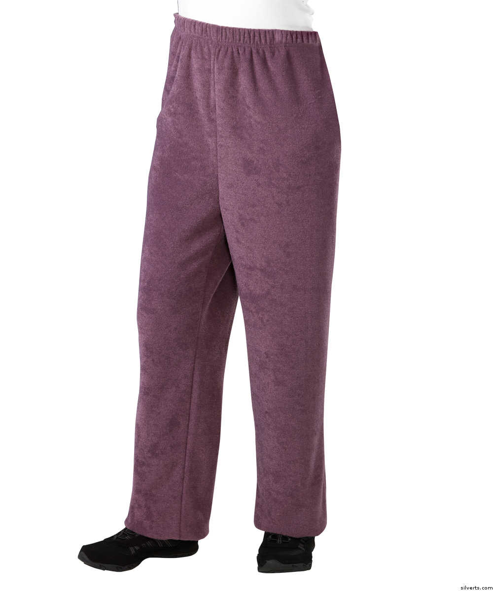 SMA - 3XL Womens Adaptive Winter Weight Open Back Pants - Nursing Home Wheelchair Pants For Women
