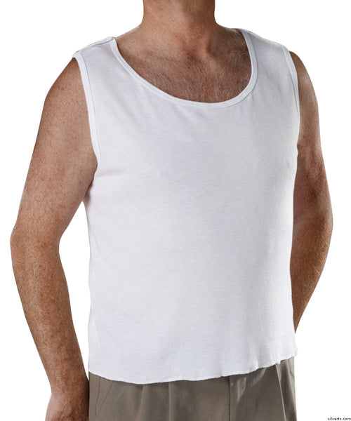 SMA - XXL Snap Open Back Undervest - Mens Adaptive Underwear