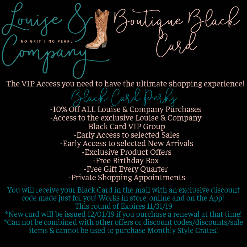 Louise & Company Boutique Black Card