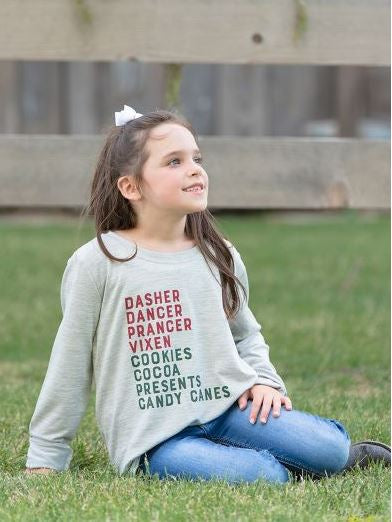 Christmas List Kids Long Sleeve