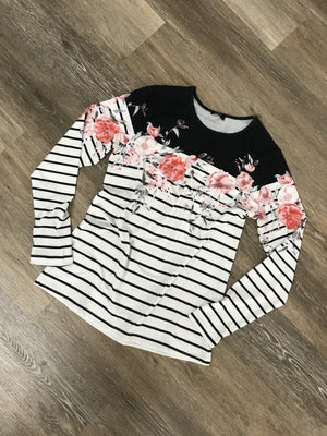 Flirty in Floral Casual Long Sleeve
