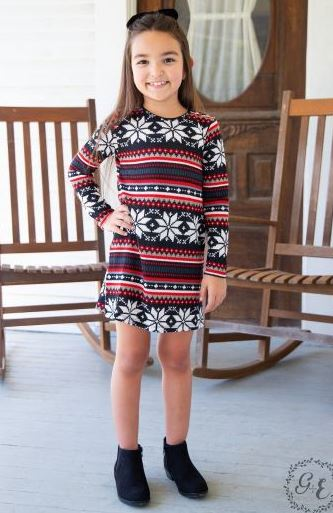 Children's Holiday Sweater Dress