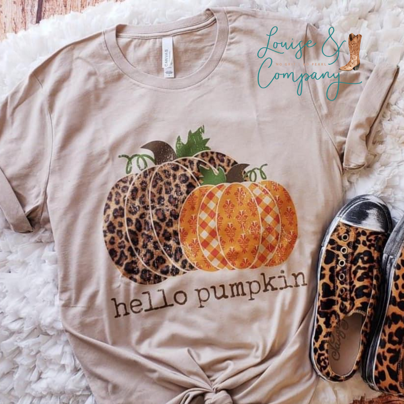 Hello Pumpkin Glam Tee