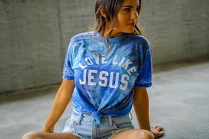 Love Like Jesus Blue Lagoon Tie Dye