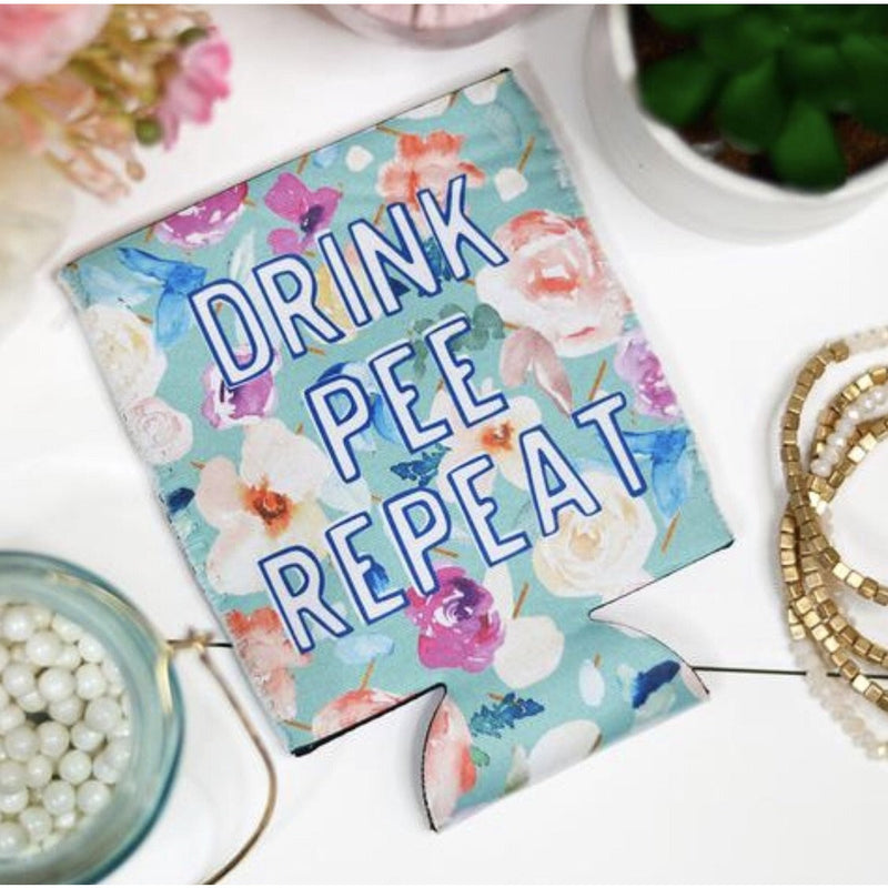 Drink, Pee, Repeat Koozie
