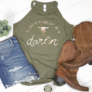 The Darlin' Olive Glam Tank