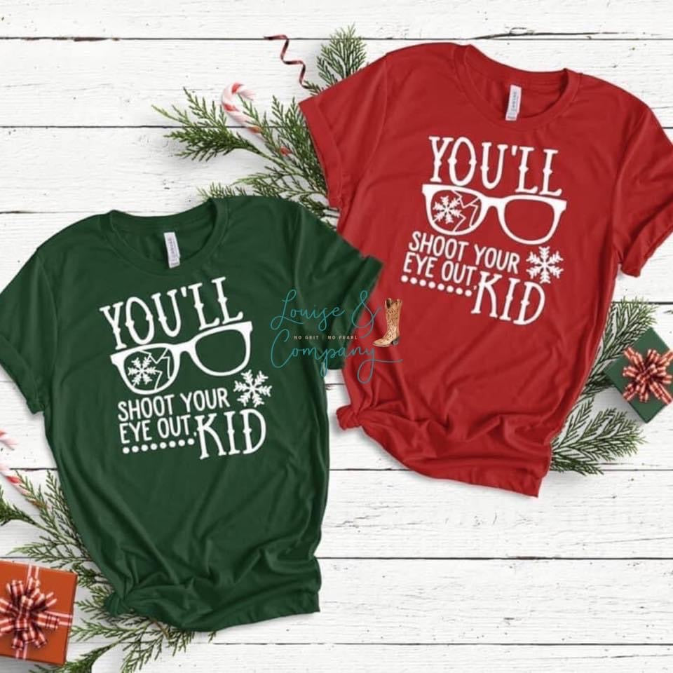 Shoot your Eye Out Kid Classic Christmas Tee