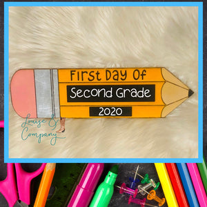 Chalkboard Back to School Pencil Sign
