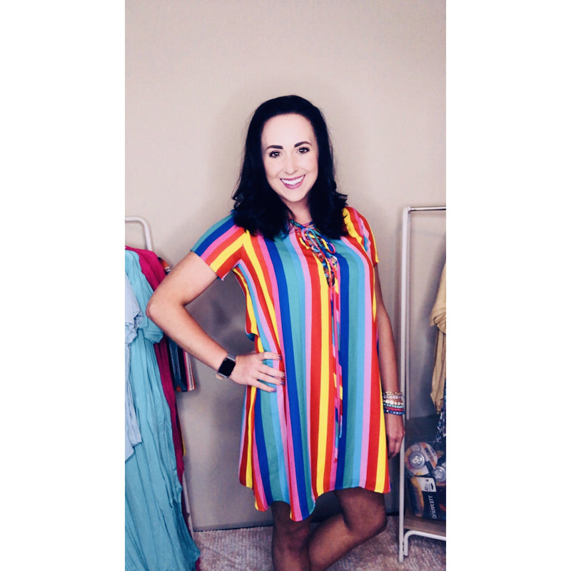 Rainbow Pop Dress