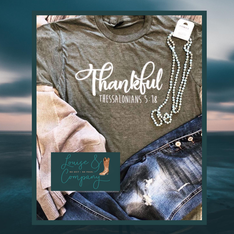 Thankful Limited Edition Olive Tee