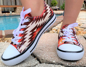 Star Aztec Casual Tennis Shoes - Red