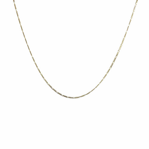 Oro Oro Jewelry - Chains & Charms - Gold Figaro Chain