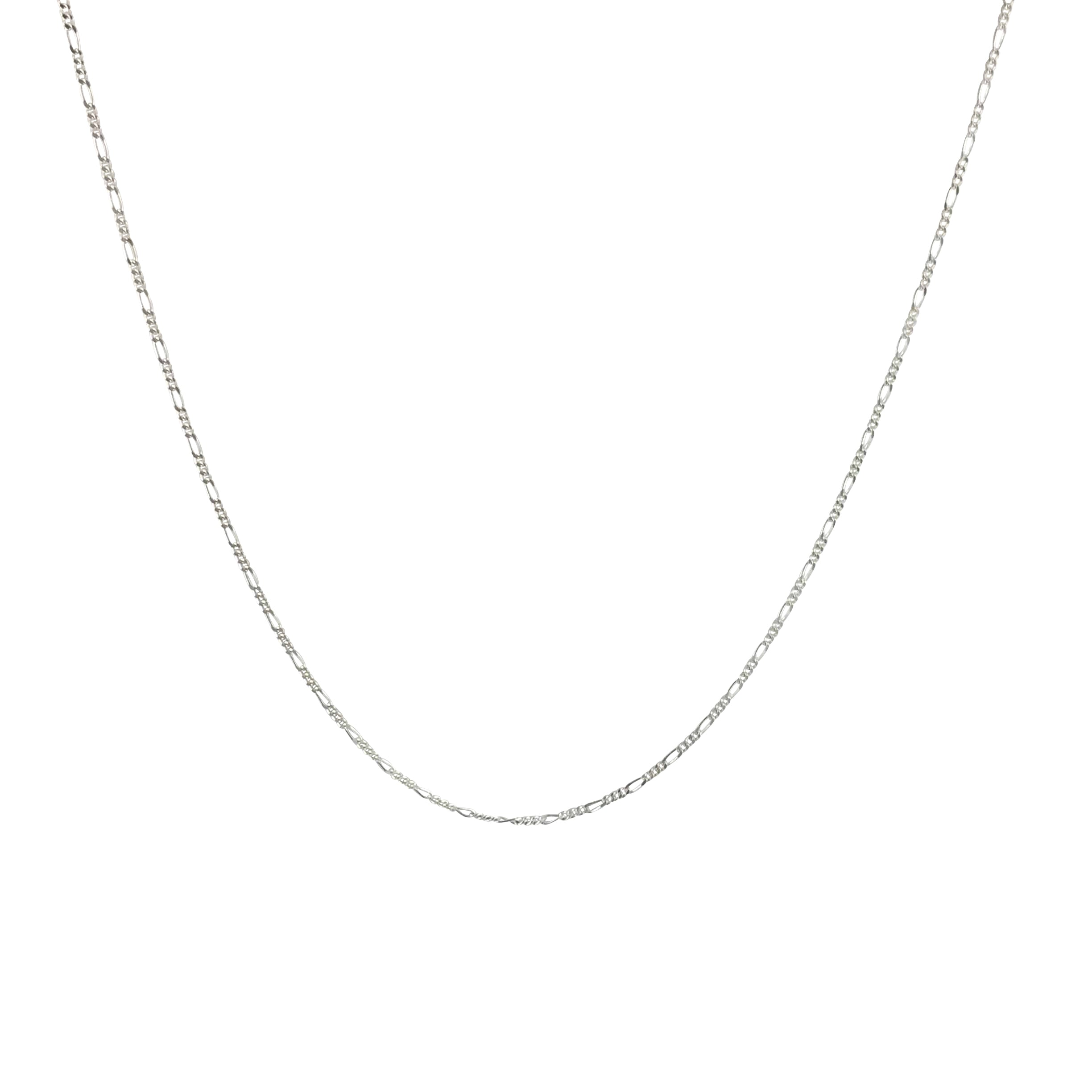Oro Oro Jewelry - Chains & Charms - Silver Figaro Chain