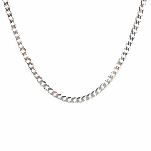 Oro Oro Jewelry - Chains & Charms - Silver Curb Chain