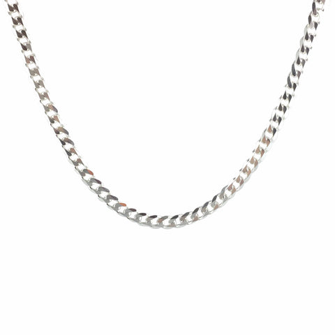 CURB CHAIN - SILVER - ORO ORO Chains & Charms