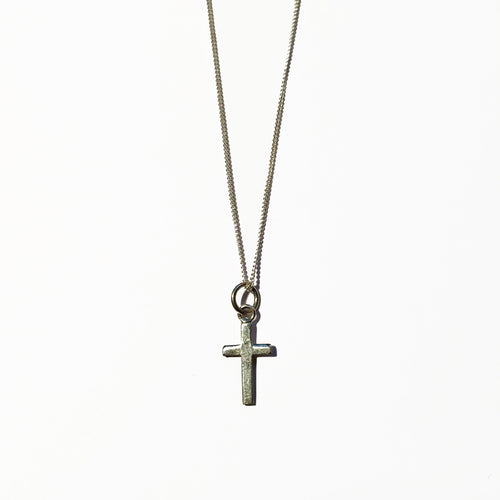 Silver Cross Charm - ORO ORO Chains & Charms