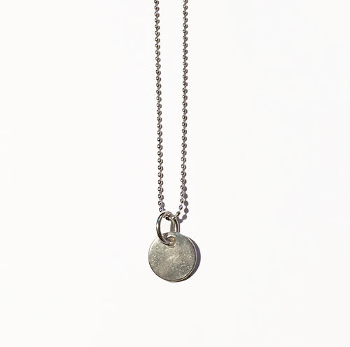 Silver Disc Charm - ORO ORO Chains & Charms