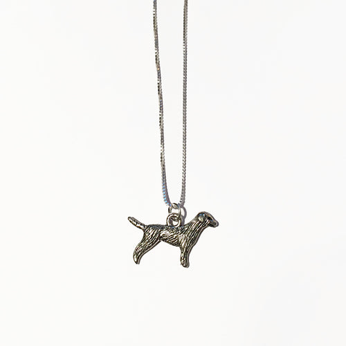 Silver Dog Charm - ORO ORO Chains & Charms