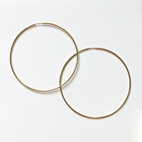 GOLD HOOPS - LARGE - ORO ORO Chains & Charms