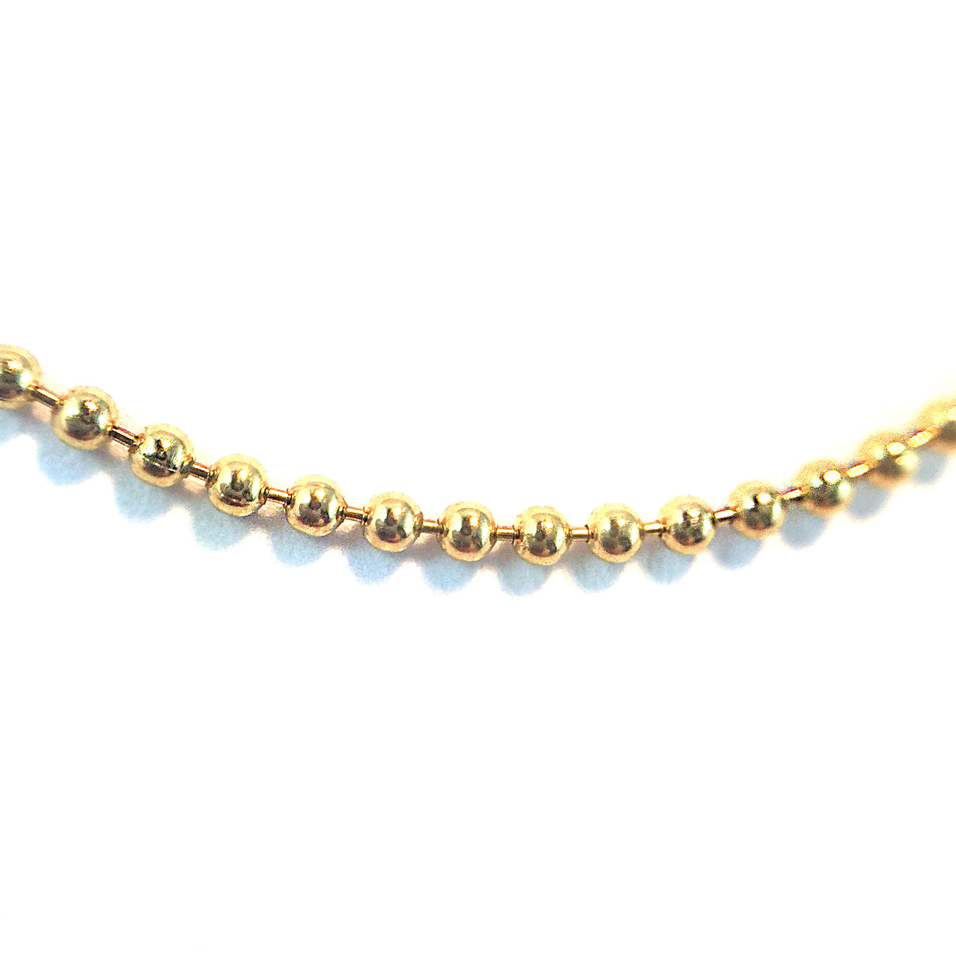 BALL CHAIN - SOLID GOLD