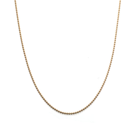 BALL CHAIN - GOLD - ORO ORO Chains & Charms