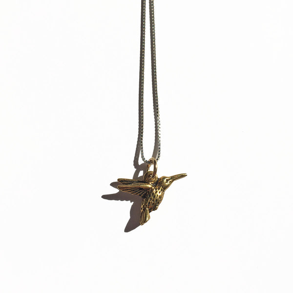 HUMMINGBIRD CHARM - ORO ORO Chains & Charms