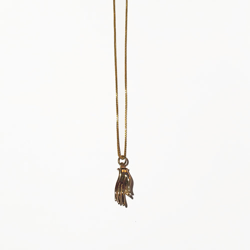 Gold Hand Charm - ORO ORO Chains & Charms