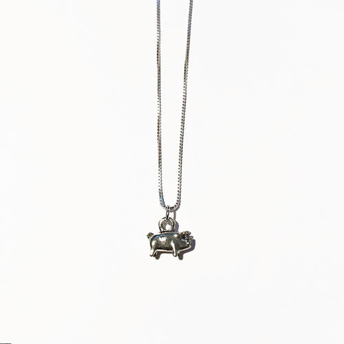 Silver Pig Charm - ORO ORO Chains & Charms