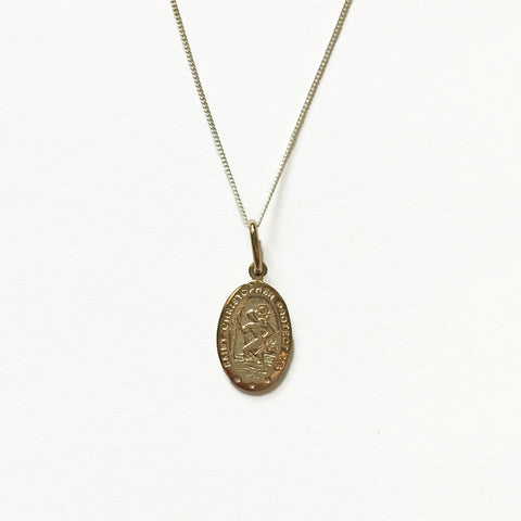 SAINT CHRISTOPHER CHARM - GOLD - ORO ORO Chains & Charms