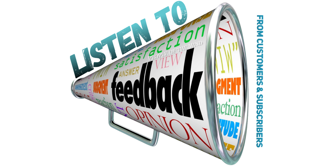 Listen To Feedback From Your Customers & Subscribers  www.ShopPeopleoftheMind.com